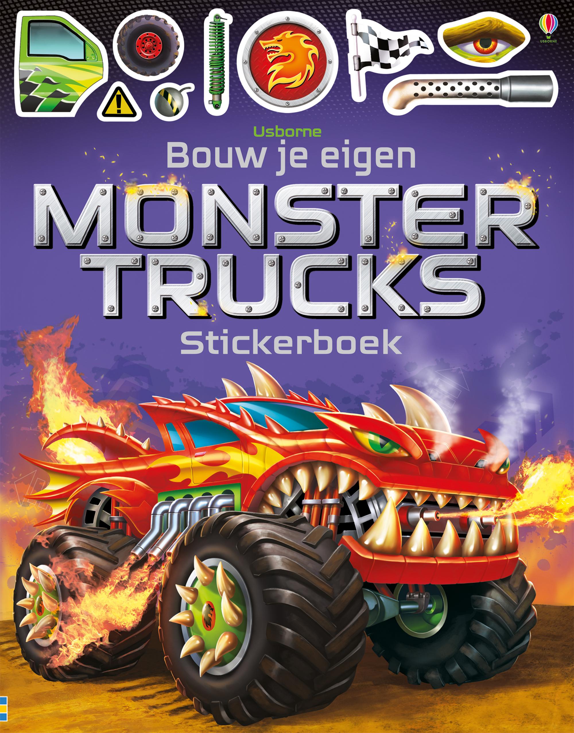 Bouw je eigen monstertrucks – Stickerboek