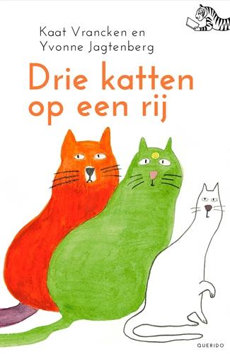Drie katten op een rij