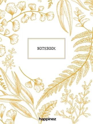 Happinez: Botanical notebook wit