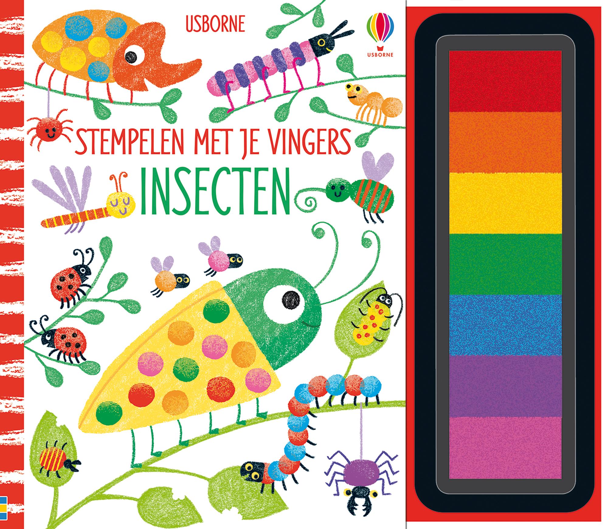 Stempelen met je vingers Insecten